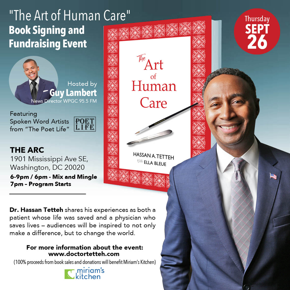 The Art of Human Care Fundraiser flyer